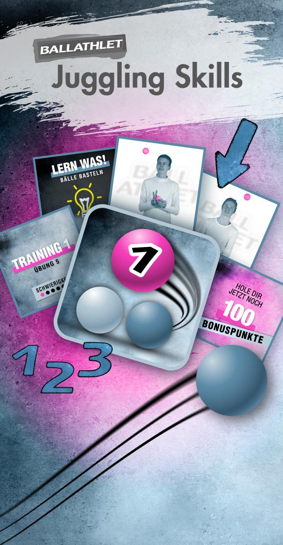 "Jonglieren lernen – Trainingsprogramm ""Juggling Skills 1"" (Email-Versand)"