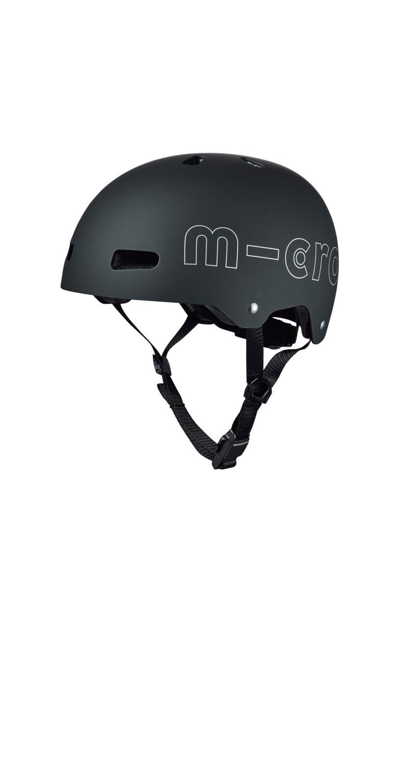 micro Helm schwarz matt (M-L)