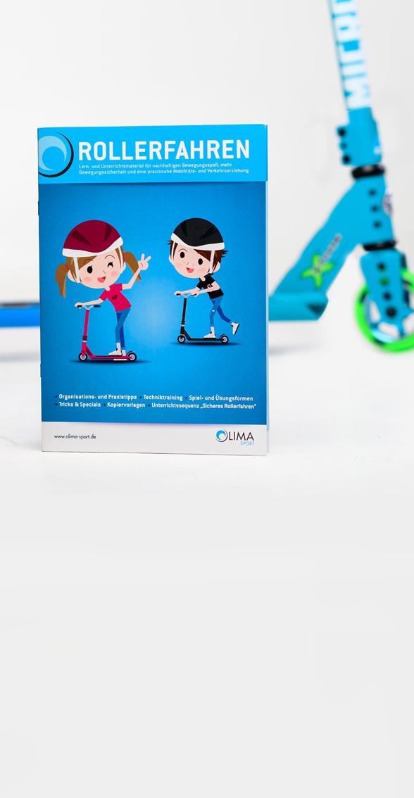 """Broschüre """"Rollerfahren in der Schule"""" (DIN A4, 68 Seiten)"""